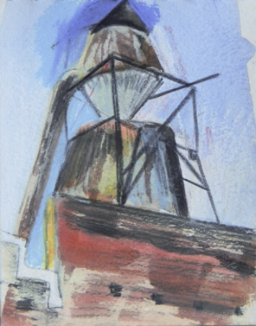Brookly Roof Top Study 5x6 $150