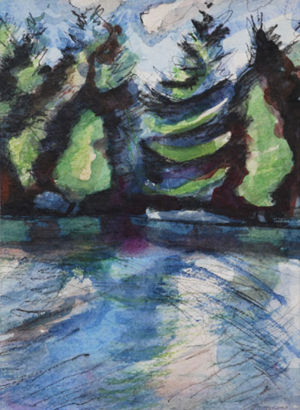 Adirondack Lake 2 9x12 $150