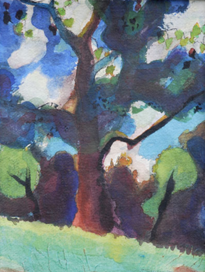 Tree in the Park 9x12 nfs