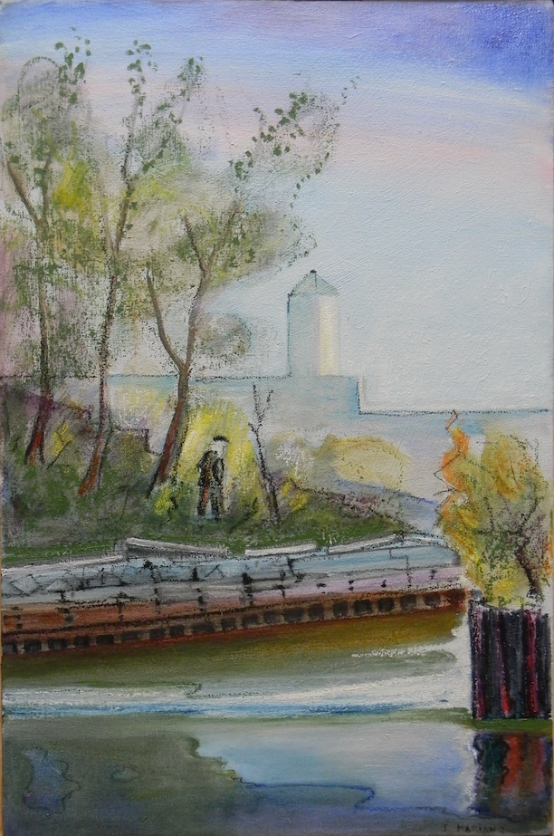Argus of the Gowanus Canal 16x24