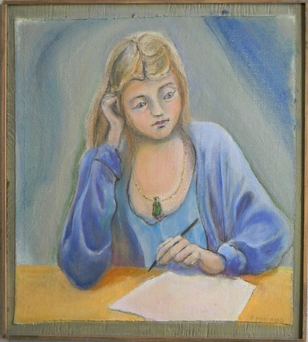 Woman About to Write 15x16 $500