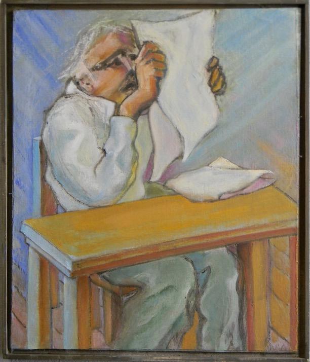 Old Man Reading 14x16 400
