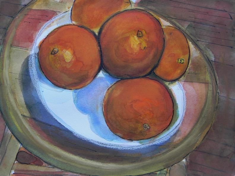 Dish of Oranges 12x9 $200