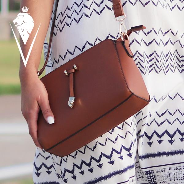 Sofi, minimal style, tassel cross body handbag.