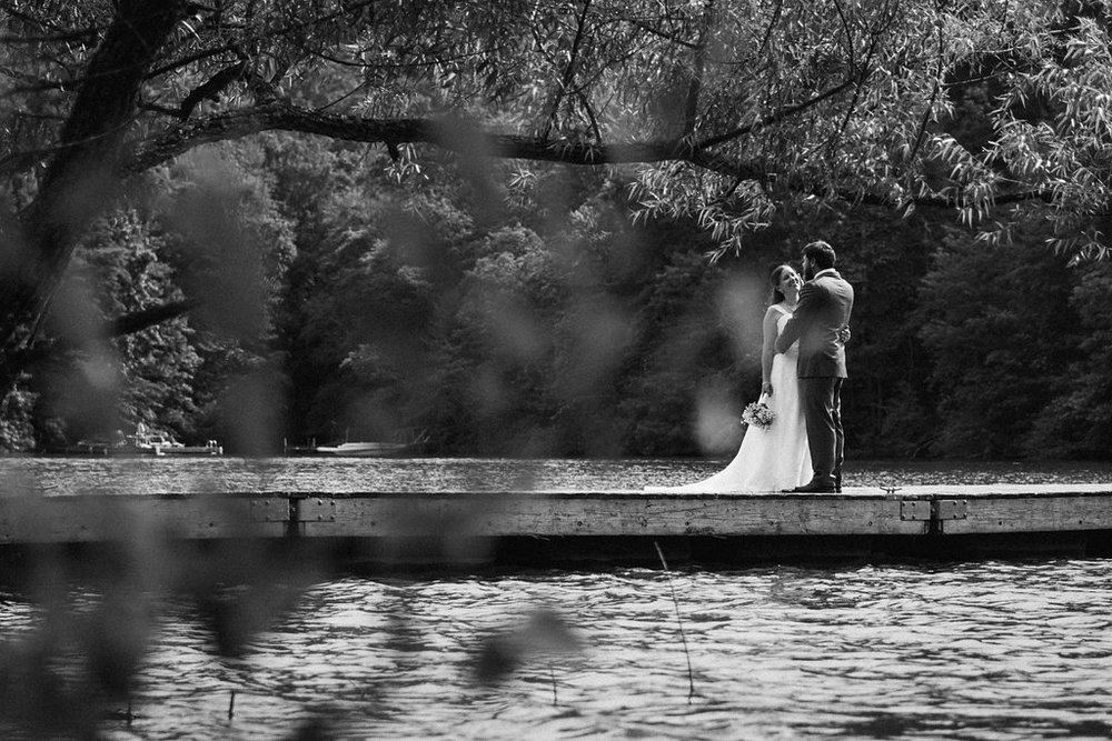 wedding day at lake