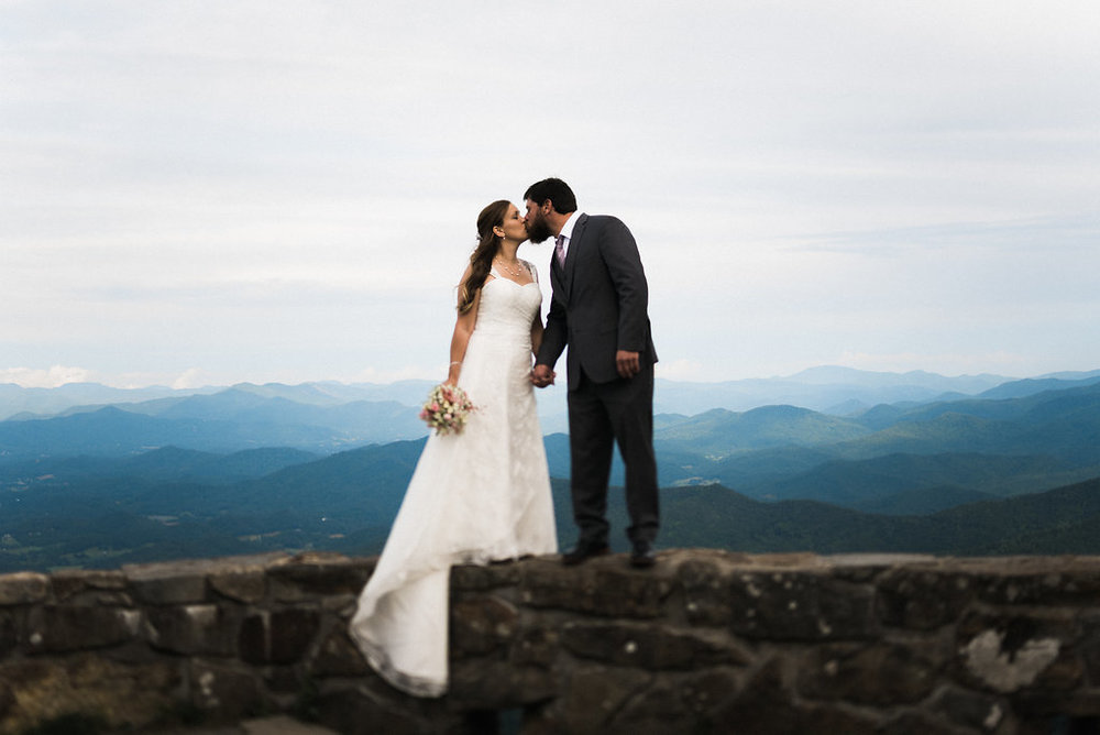 kissing on top of the mountains