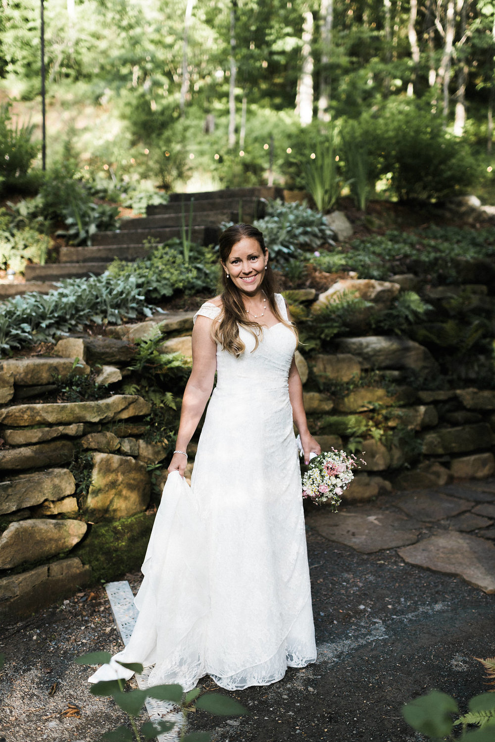 bride at Nantahala Weddings