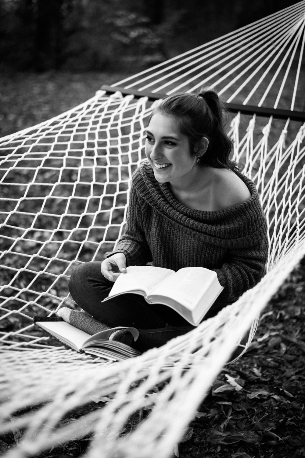 senior shoot with hammock