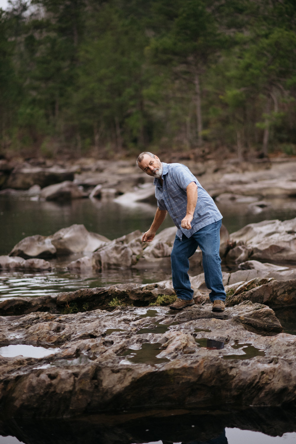 Skipping stones on Ocoee River