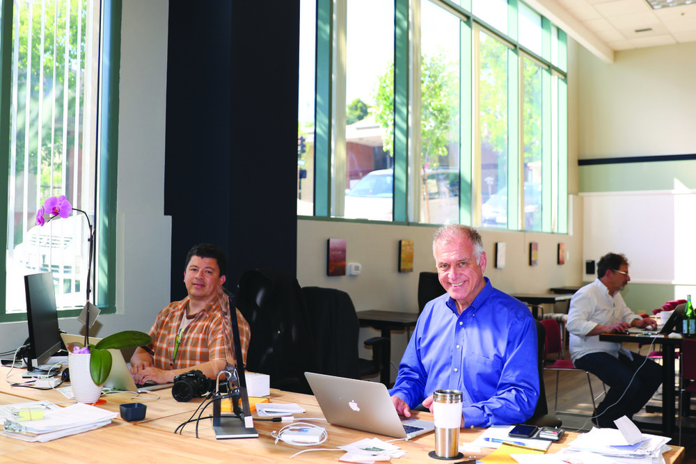 Pacific Sun articleMay 3, 2017 - San Rafael Spotlight: Group InspirationVenturePad offers workspace, social stimulation and motivation