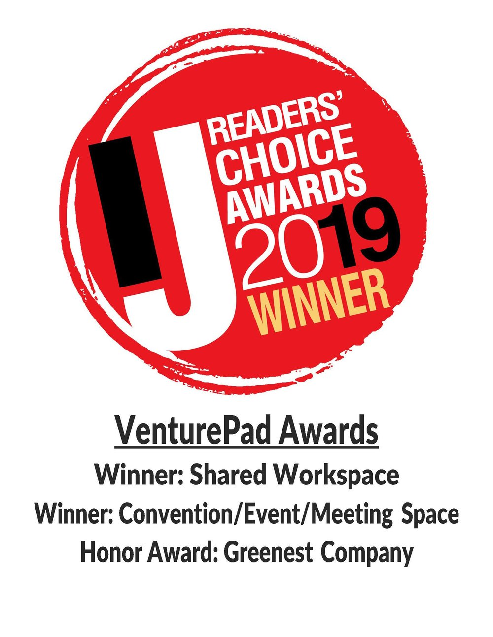 VenturePad is on:Page 40: Winner: Convention/Event/Meeting SpacePage 42: Honor Award: Greenest CompanyPage 52: Winner: Shared Workspace -