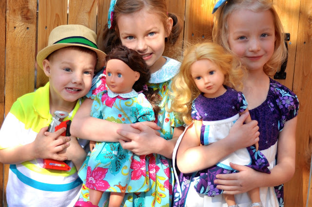 The year I made the girls and their dolls matching Easter dresses. Look how tiny my kids were!!