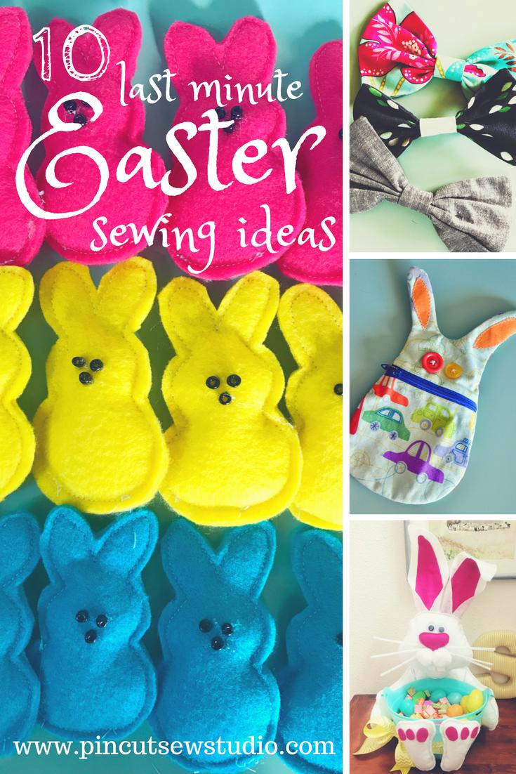 10 Last minute Easter sewing ideas — Pin, Cut, Sew Studio