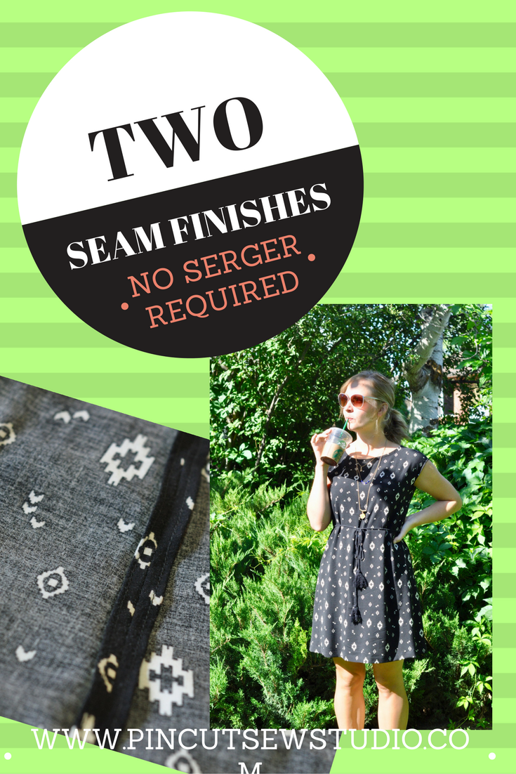 How to sew finished seams, two ways, without a serger