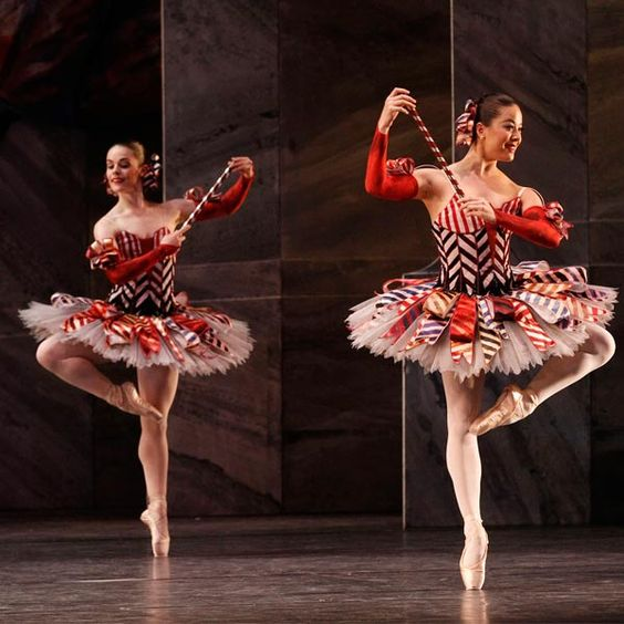 Mirlitons: Eloise Fryer and Jill Ogai in Sir Peter Wright's The Nutcracker. Photography Jeff Busby