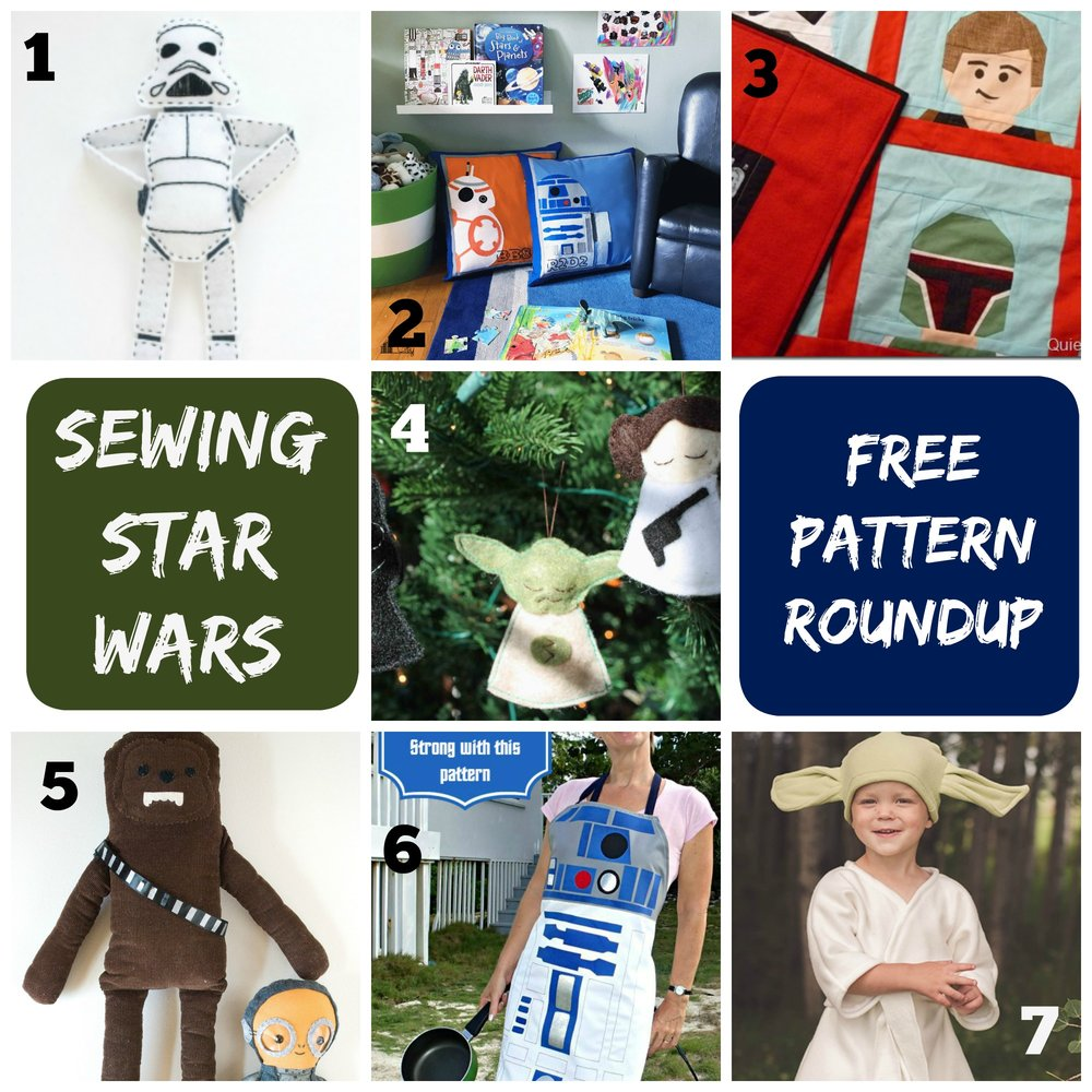 Star Wars free sewing tutorial roundup || Pin, Cut, Sew Studio