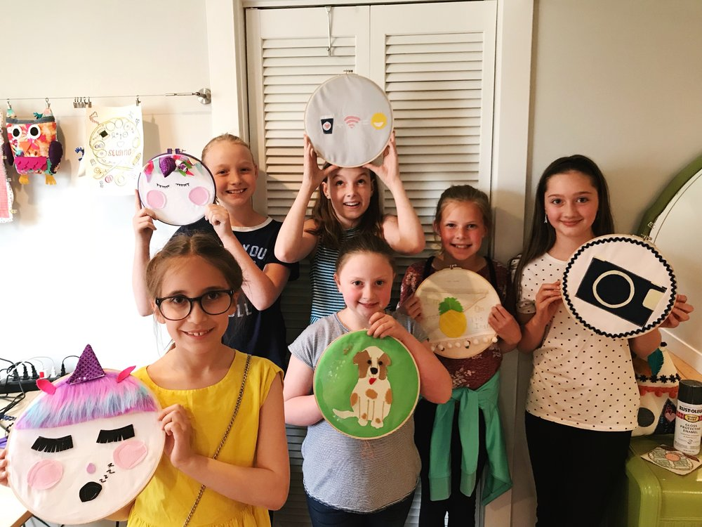 Hoop art sewing class