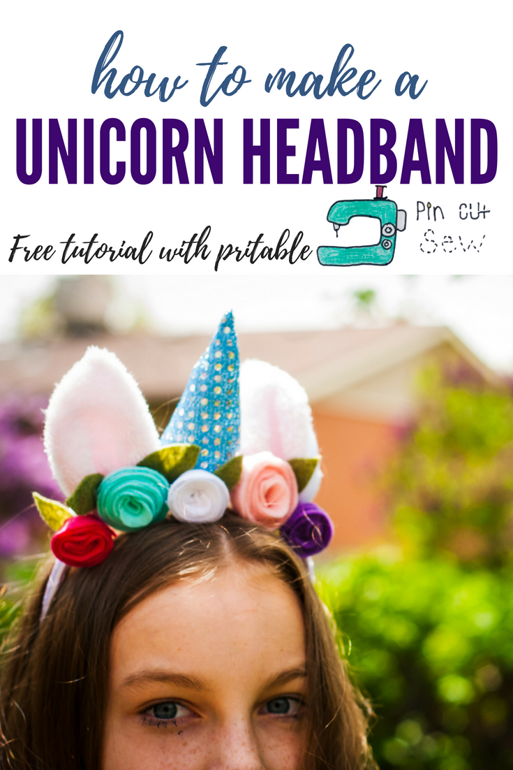 Unicorn Headband tutorial by Pin, Cut, Sew Studio