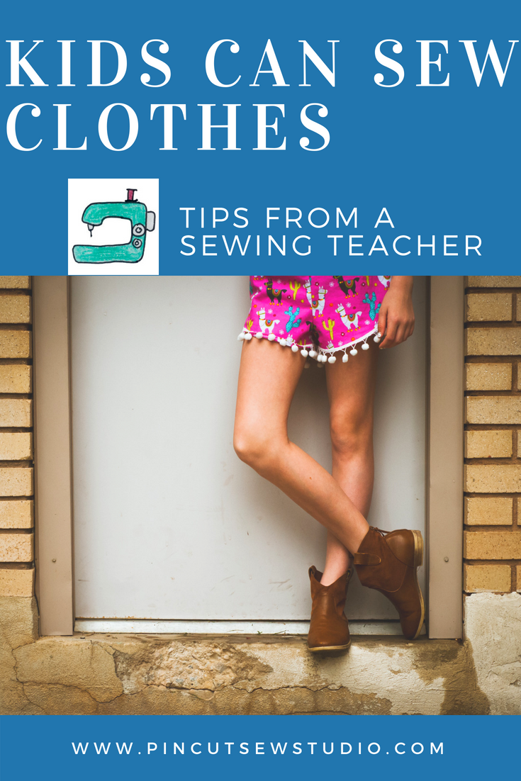 Tips for teaching kids to sew clothes