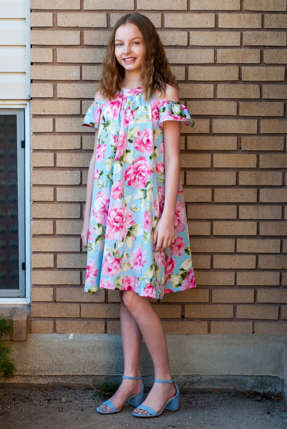 Natalie made her Easter Dress this year! We used New Look pattern #D0917