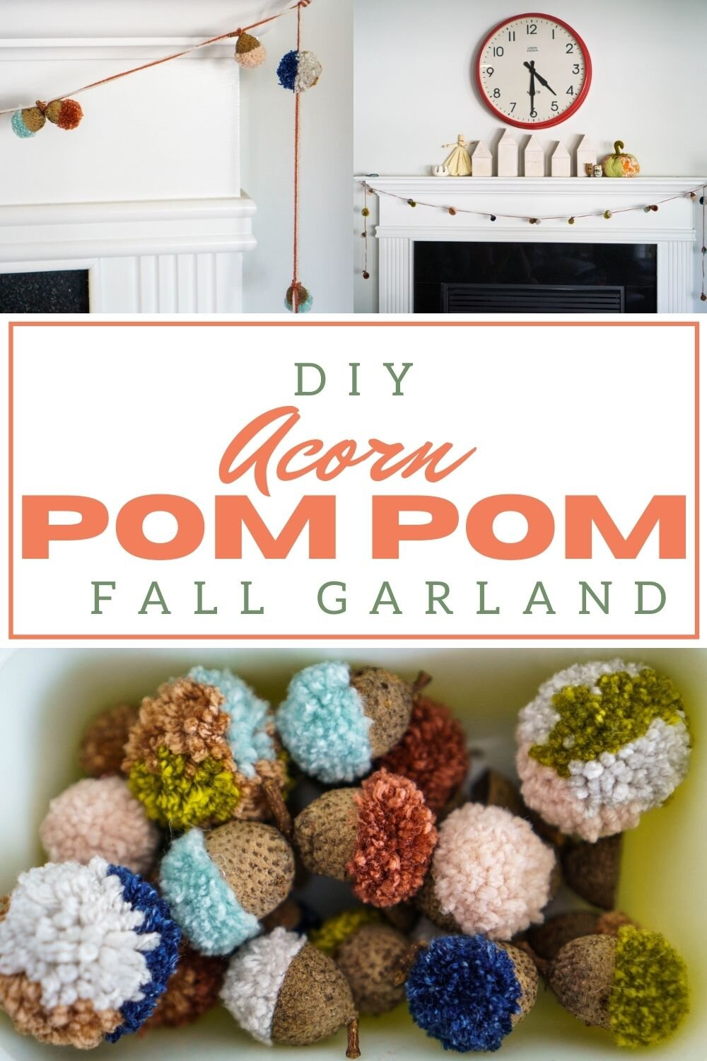 Diy Pom Pom Acorn Garland Pin Cut Sew Studio