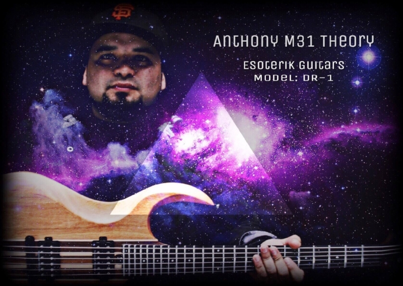 "ANDROMEDA THEORY -Anthony Gonzalez (Tony) inspired by his father, Anthony Gonzalez quickly became fascinated by the guitar and rock music. Although being born in El Paso, Texas, Gonzalez grew up and spent most of his youth in Las Vegas, Nevada. At age 14 Gonzalez acquired his first guitar from a pawn shop in Vegas. He moved back to El Paso at age 15 where he heavily pursued a career in music. Aside from his father, Gonzalez was also greatly influenced by Dimebag Darrell, Jimmy Hendrix, and Tool's Adam Jones. Other musical influences such as A Perfect Circle, Sevendust, Nine Inch Nails, and 30 Seconds to Mars motivated Gonzales to start a band. At age 19 Tony started his first cover band, Unheard of Messiah. Shortly after he lost interest in cover bands and worked on writhing original music. Tony also became a big fan of effects on guitars and ""making them sound nothing like a guitar."" As he experimented with more music, Gonzalez gave light to multiple bands. In 2013, with the union of previous band members, Gonzalez started Andromeda Theory. Andromeda Theory quickly gained a foothold in El Paso. Because the bands members had all been well-known local acts, Andromeda Theory quickly began playing alongside national and international acts. The band has also played multiple national and local music festivals including Mayhem Fest, Rock the Fort, Balloon Fest and Chuco Fest. They releaseda 4 track EP in October 2014. The demo release also included a music video follow up with ""Land of the Lost"". The 2014 EP release was also followed up with a music video for ""Massacres of the Fallen"". In February 2016 the band signed with Sound Stage 9 (SS9) and is currently working on a 5 track EP to be released in late 2016. Anthony Gonzalez looks forward to the growth of his band, along with the new endorsement of Esoterik Guitar. -Vladimir Avina"