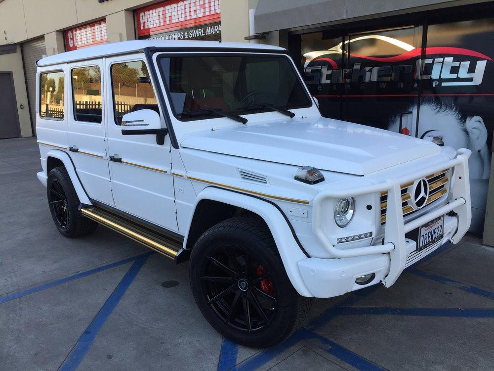 Satin White Mercedes G Wagon Grant Makes