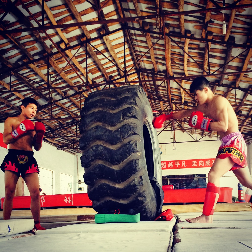 One path for Shaolin Temple pupils is Sanda, or Freefighting, a form of combat sport similar to kickboxing.JPG