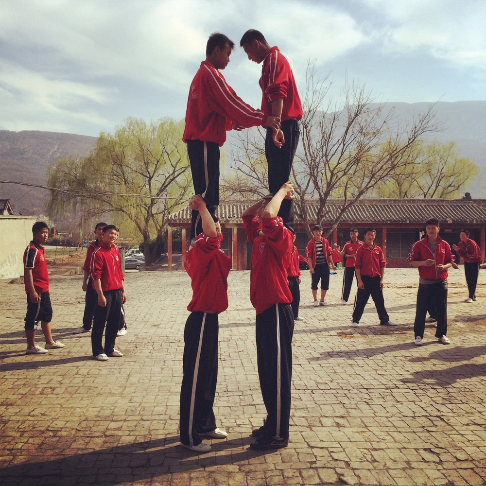 Students playing on their lunch break at the Shaolin Temple.JPG