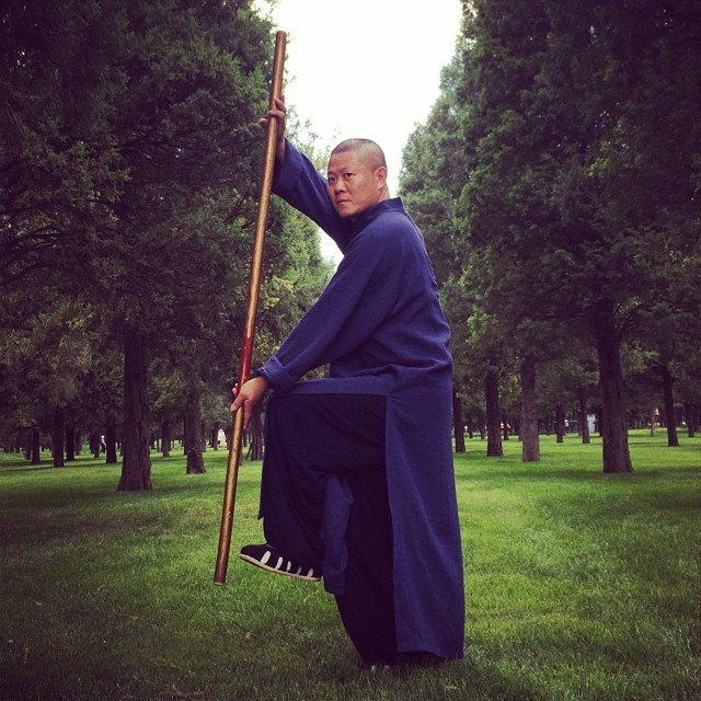 Xingxi trained as a Shaolin Buddhist Monk. He lived on Song Mountain for 10 years where he studied in a monastery. He has now come down to attempt MMA, and prove kung fu still has a place in the modern world.jpg