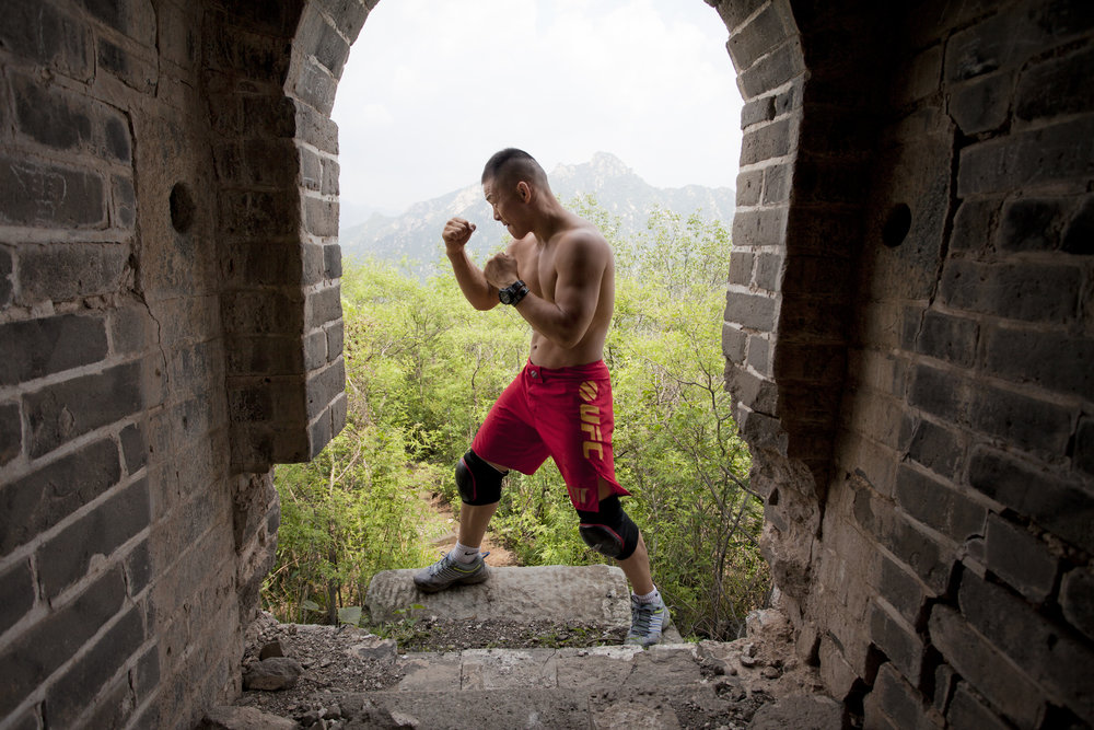 UFC MMA athlete Ning Guangyou. Photographed for VICE