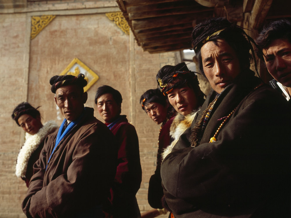 Tibetan believers in the ancient Bon religion celebrate New Year, Qinghai Province. Photographed for China Pictorial.