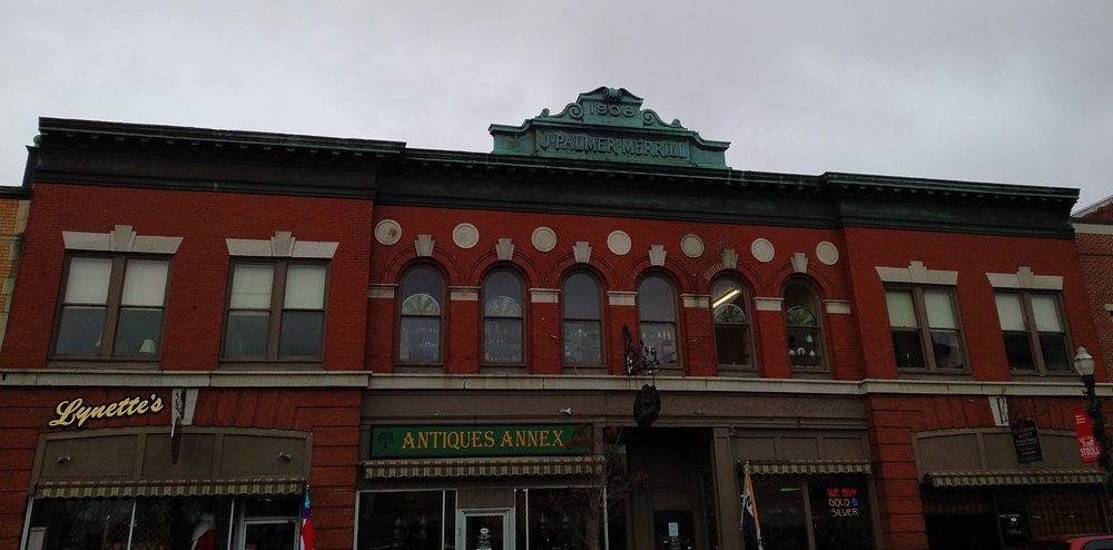 Hilltop Antiques in the historic J. Palmer Merrill building in downtown Skowhegan