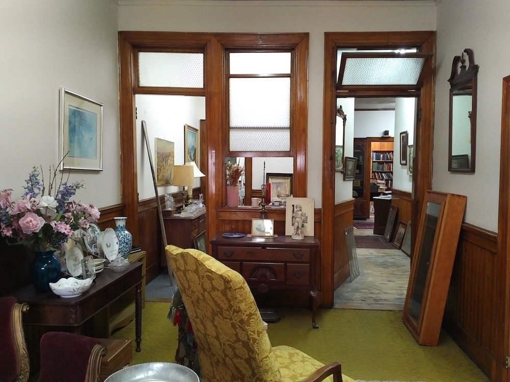 A room on the top floor (of three stories) at Hilltop Antiques in downtown Skowhegan