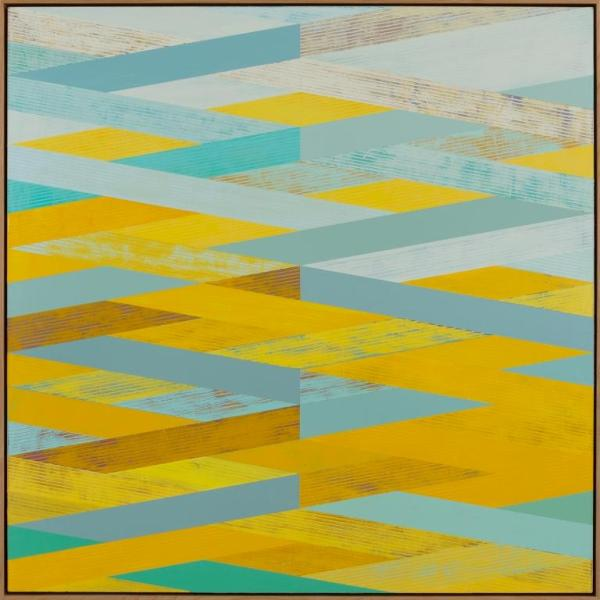 Weave with Yellow and Aqua