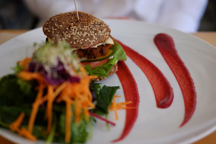 Sadhana Kitchen Bondi Beach Cheezeburger Review Vegan Food Raw.jpg