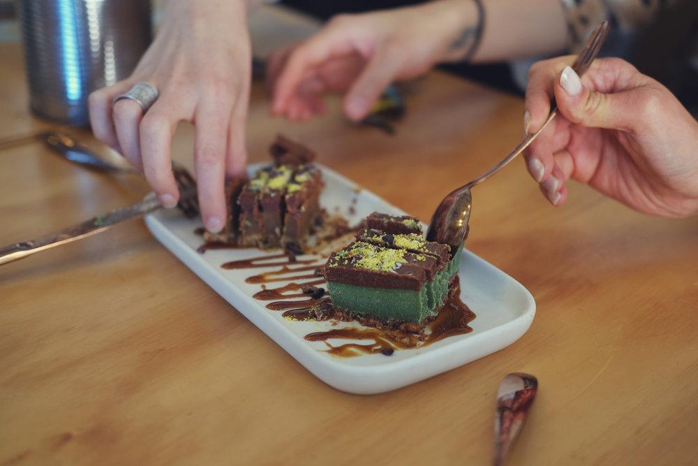 Raw Dessert Sadhana Kitchen Mint Slice Caramel Slice Vegan Plant Based.jpg