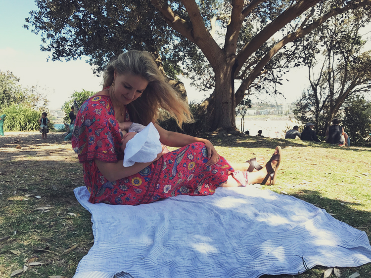 Vegan Mum Breastfeeding Bondi Beach Sydney.jpg