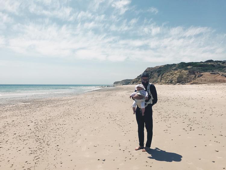vegan dad vegan baby beach plant-based family sydney babywearing dad .jpg
