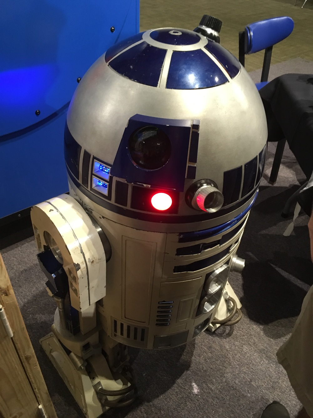 R2-D2, what are you doing here?  Oh, you're helping with the robotics lab demonstration.  That's awesome!