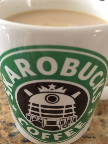 Did I include a picture of my rosemary latte just to show off my awesome Dalek coffee mug?  Yes, yes I did.