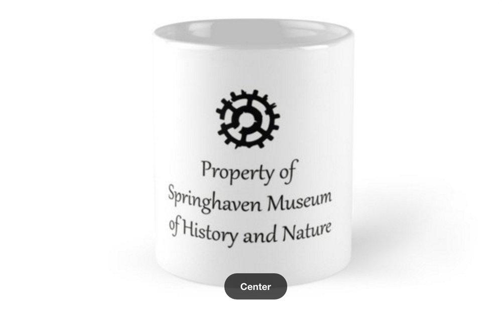 Official Broken Gears Springhaven Museum Mug