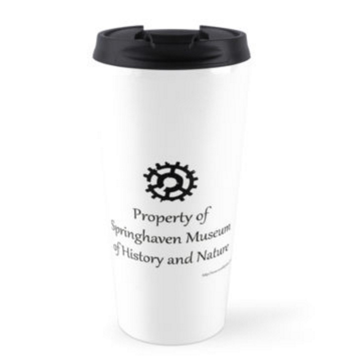 Official Broken Gears Springhaven Museum Travel Tumbler