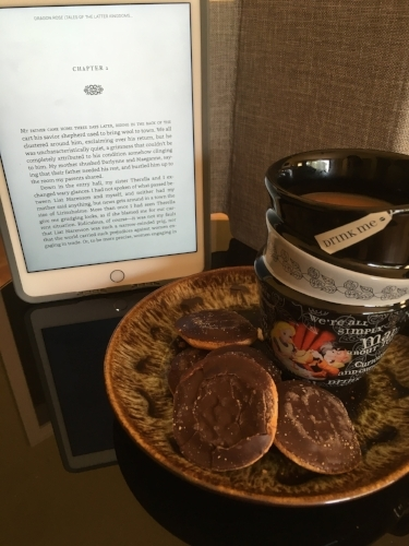 Tea and biscuits enhances the reading experience. - True fact.