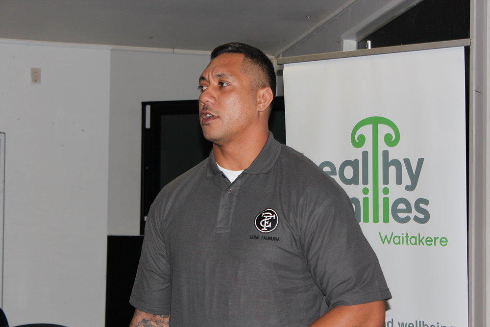 Sione Faumuina talking on his personal experience with alcohol as a professional sportsman.