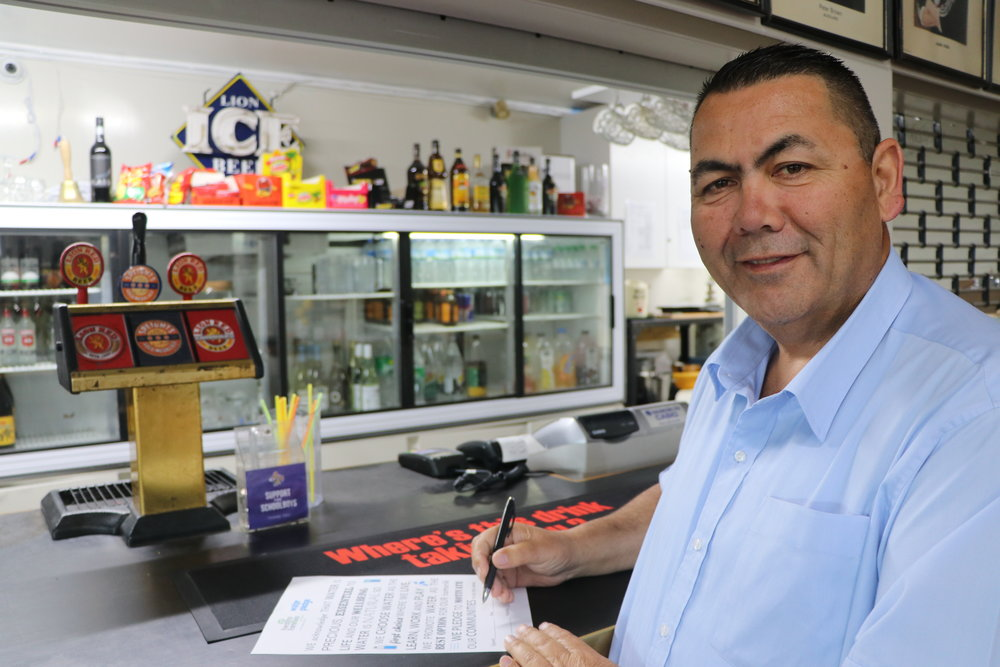 Brian O'Shea Chairman - Te Atatu Roosters Rugby League Club  - changed the placement of water bottles to be more visible - provided a water dispenser for children to help themselves   Te Atatu Roosters Rugby League Club change up their drink offerings for their junior players