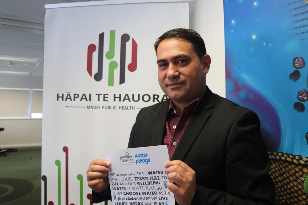 Lance Norman,  Ngati Kuri  Mana Amorangi, Hapai te Hauora  - the organisation created Fizz Free Whanau - going without sugary drinks for the month of January - Fizz Free Whanau now cares for challenge-takers, and those struggling with nutrition   Fizz Free Whanau takes a whānau-centred approach to awhi challenge-takers