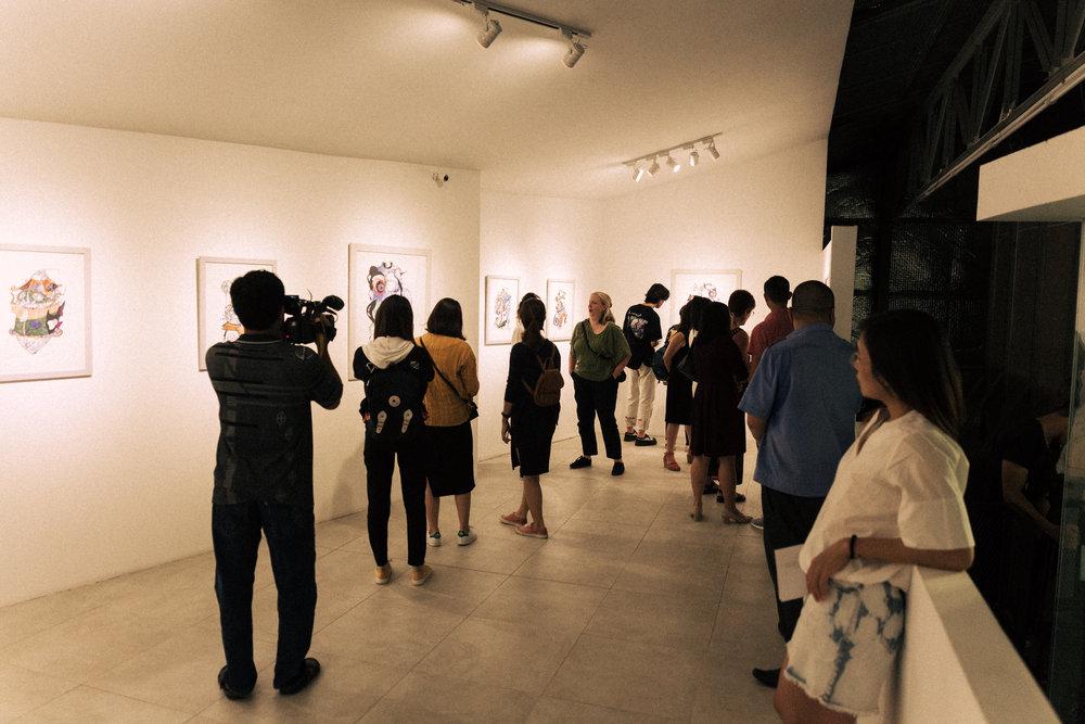 Reception of 'lamina | ink' on September 28th, 2018