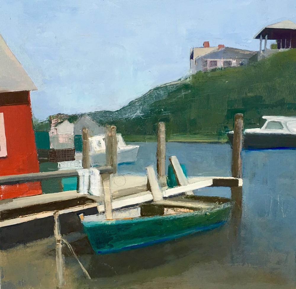 "Menemsha, 20""x20""Oil on canvas"
