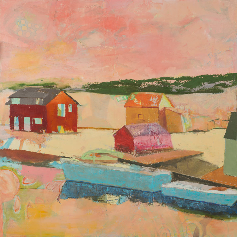 "Menemsha Sunset, 36""x36"", 2017"